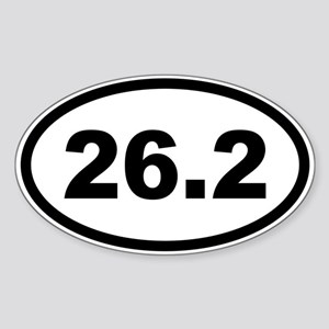 26.2 Marathon Sticker (Oval)